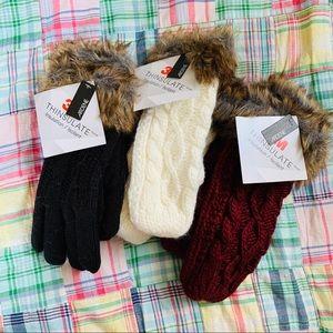 Bundle three NWT Ardene knit mittens